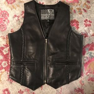 USA BIKERS DREAM APPAREL Leather Vest